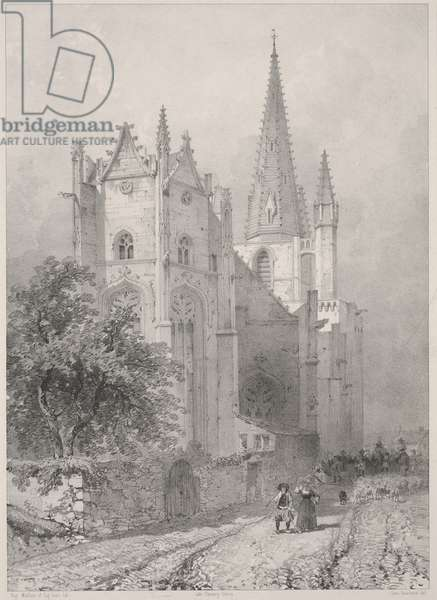 Hennebont Church, Brittany, 1845-1846 (lithograph)