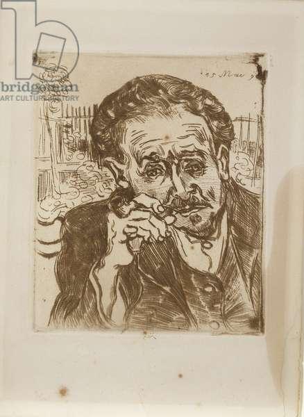 Portrait of Doctor Gachet, 1890 (etching)
