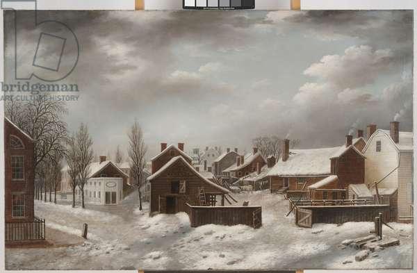 Winter Scene in Brooklyn, c.1817-20 (oil on canvas)