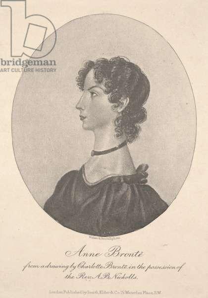 Anne Brontë, engraved by Walker & Boutall, c.1836-49 (engraving)