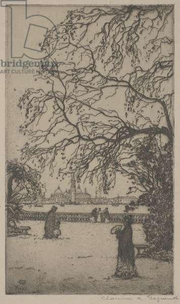 Jardini Public, Venice, 1906 (etching)
