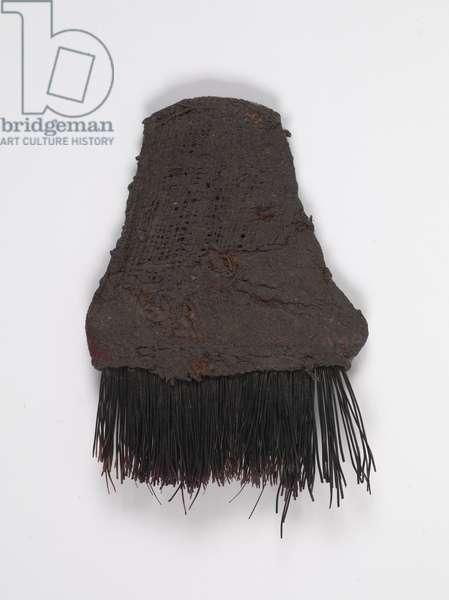 Weaving brush, 20th century (boar's bristles, hemp cloth, and paint)