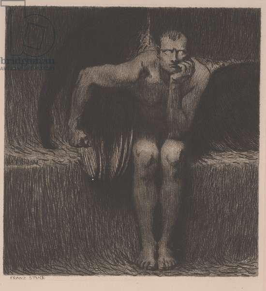 Lucifer, c.1890 (etching)