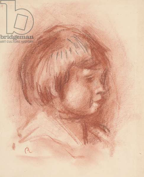 Head of Child, c.1906 (sanguine chalk)