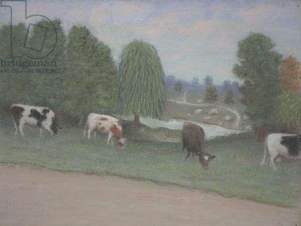 Pasture, 1922 (pastel)
