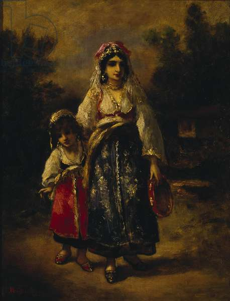 Woman and Girl, 1861 (oil on panel)