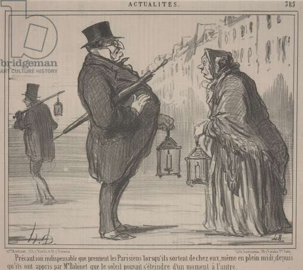 Current Events, no. 385: Essential Precaution, Paris, 1857 (litho)