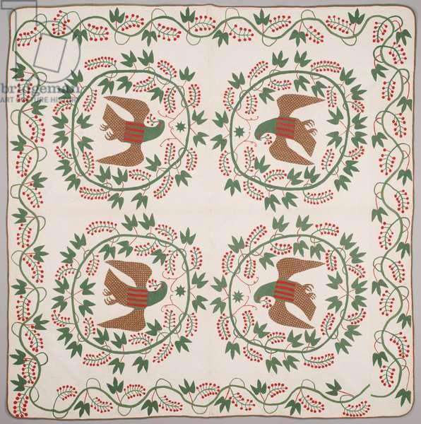 Quilt, c.1840-50 (appliquéd cotton)
