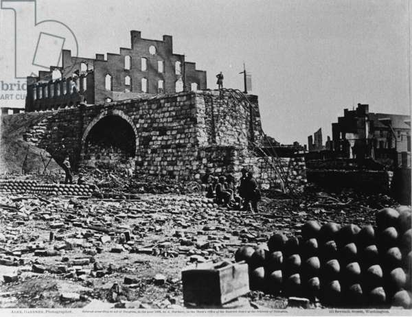 Ruins of an Arsenal, Richmond, Virginia, April 1863 (albumen print from collodion negative)