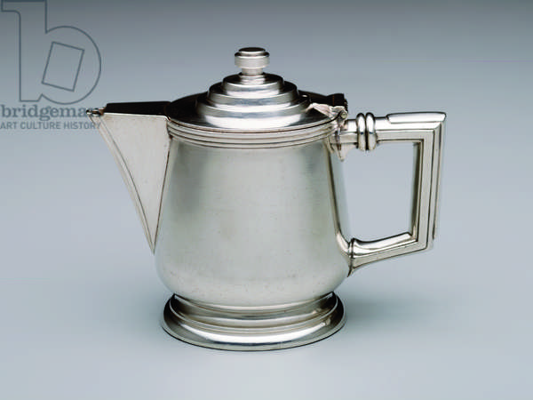 """Master Building"" teapot, 1929 (silverplate)"