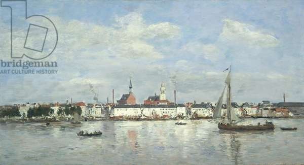 The Quay at Antwerp, 1874 (oil on panel)