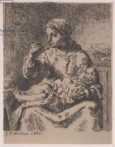 The Gruel, 1861 (etching)