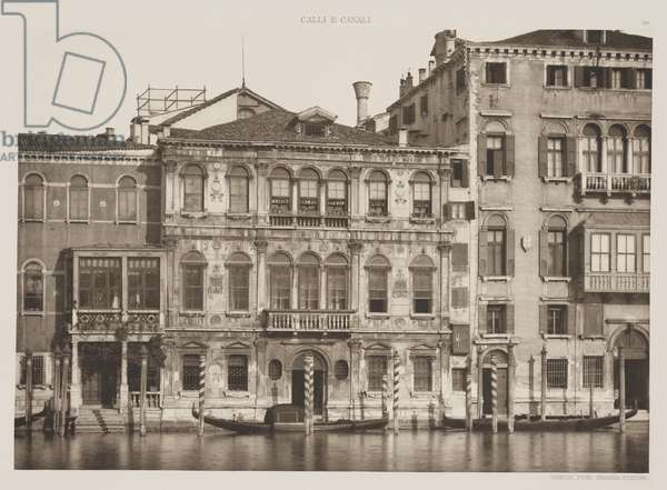 Grimani Palace, Grand Canal, 1891 (photogravure)