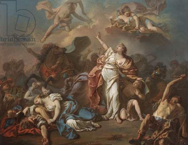 Apollo and Diana Attacking the Children of Niobe, 1772 (oil on canvas)