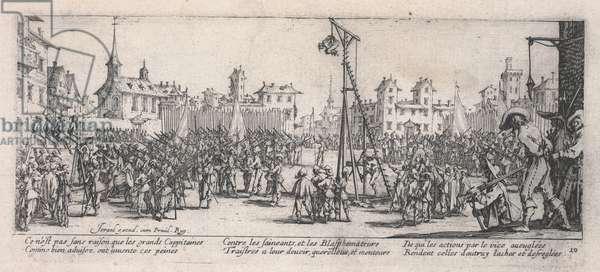 The Strappado (L'Estrapade), 1633 (etching)