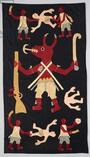 Appliqué banner, 1900-30 (cotton)