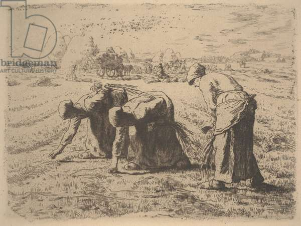 The Gleaners, c.1855 (etching)