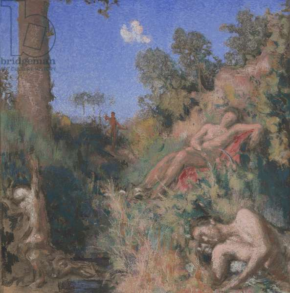 Bathers, c.1903 (pastel & w/c on paperboard)