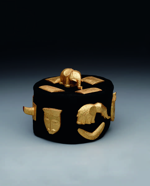 Crown, c.1920 (wood, gold leaf, and textile)