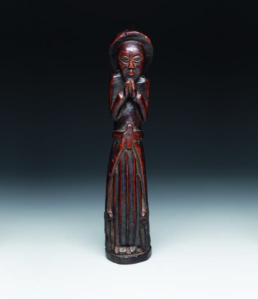Standing figure of a religious, late 19th century to c.1930 (wood)