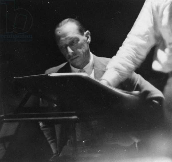 Portrait of the Russian composer Igor Stravinsky, c.1930 (b/w photo)