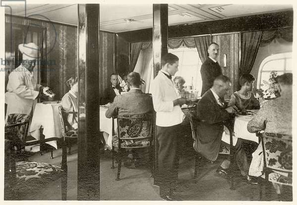 Picture No. 94: Dining room of the LZ 127 Graf Zeppelin , from 'Zeppelin-Weltfahrten...', 1933 (silver bromide print)
