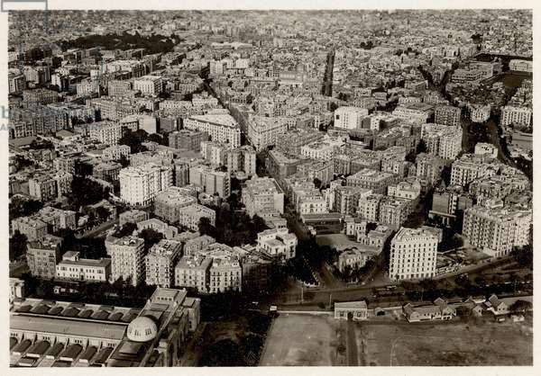 An aerial view of New Cairo in 1931, from 'Zeppelin-Weltfahrten' (silver bromide print)