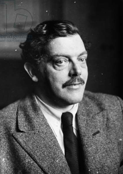 Portrait of Austrian writer Richard Billinger (b/w photo)