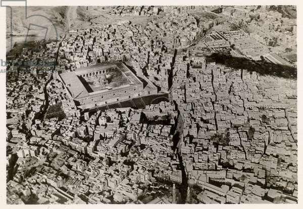 An aerial view of Old Cairo in 1931, from 'Zeppelin-Weltfahrten' (silver bromide print)