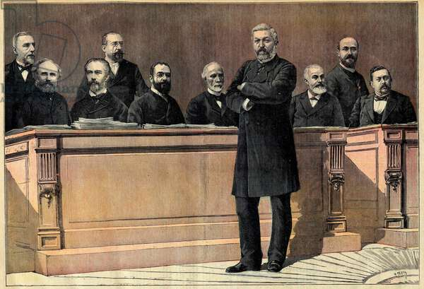 Opening of the parliamentary session in France: Ministers Mr Barbey, Alexandre Ribot, Jules Roche, Maurice Rouvier, Leon Bourgeois, Charles de Freycinet, Ernest Constans, Yves Guyot, Jules Develle, Armand Fallieres, last page of the Petition Journal of 31 October 1891 - Opening of parliamentary session in Paris: the ministers Mr Barbey, Alexandre Ribot, Jules Roche, Maurice Rouvier, Leon Bourgeois, Charles de Freycinet, Ernest Constans, Yves Guyot, Jules Develle, Armand Fallieres, last page of newspaper Peer Journal october 31, 1891