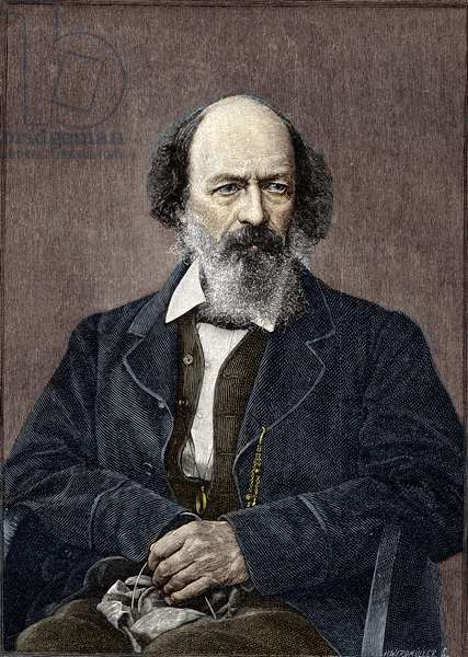 Portrait of Lord Alfred Tennyson, English poet and playwright (1809 to 1892).