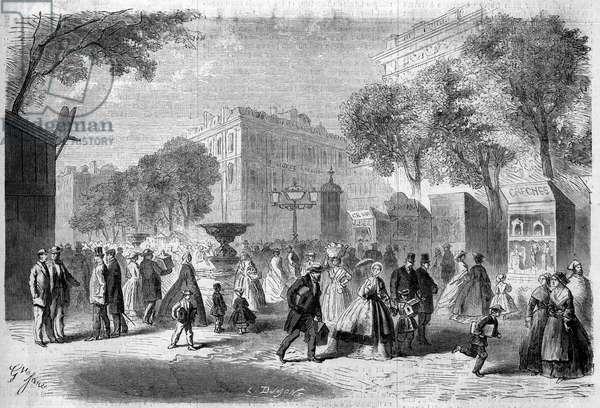 """Faire des santons in Marseille, Bouches du Rhone (13), 1860. Engraving in """""""" Le Monde Illustrous"""""""" n°193 of 22 December 1860."""