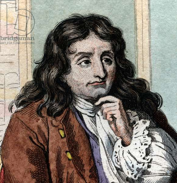 Portrait of Jean de La Fontaine (Lafontaine) (1621-1695), French fabulist and poet.