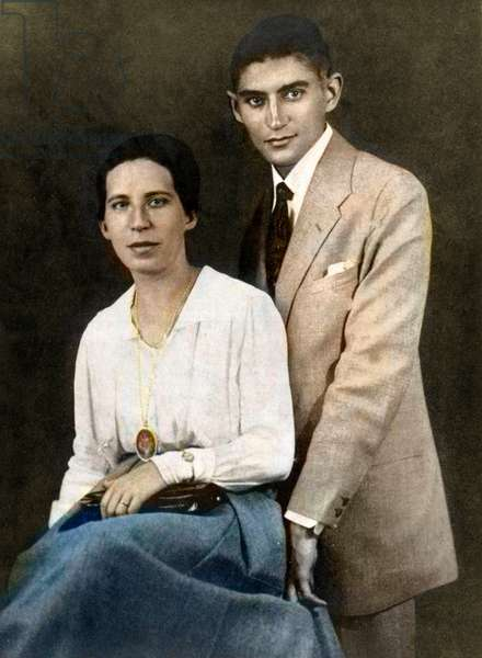 Franz Kafka with his first fiancee, Felice Bauer - Budapest, July 1917