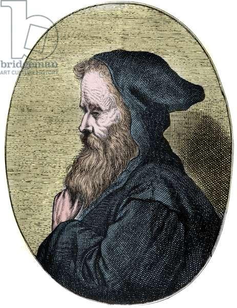 Portrait of Empedocles  d.490BC, Greek philosopher.
