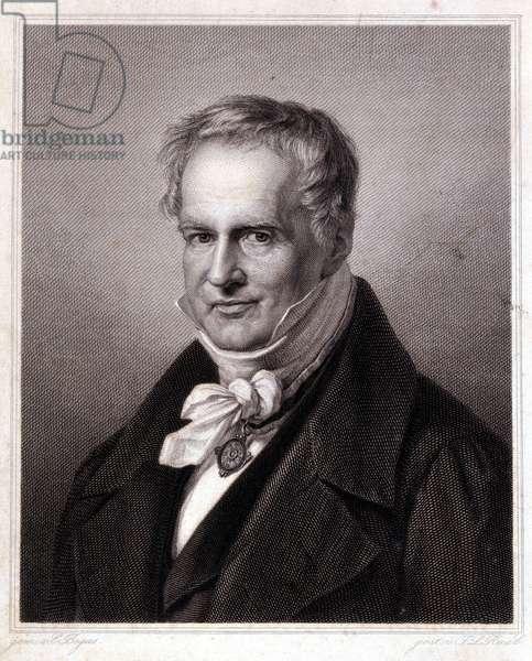 Portrait of Alexander Von Humboldt (Alexander of Humboldt, 1769-1859), German naturalist and traveler.