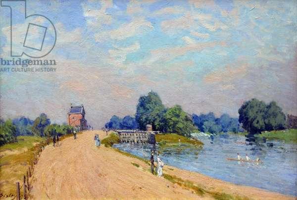 Hampton Court Road, 1874 (oil on canvas)