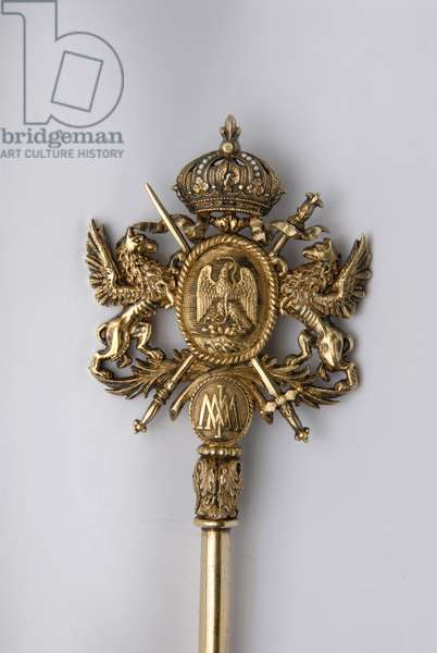 Detail of the key of Chambellan, Mexico. Period of King Maximilian I (1832-1867).
