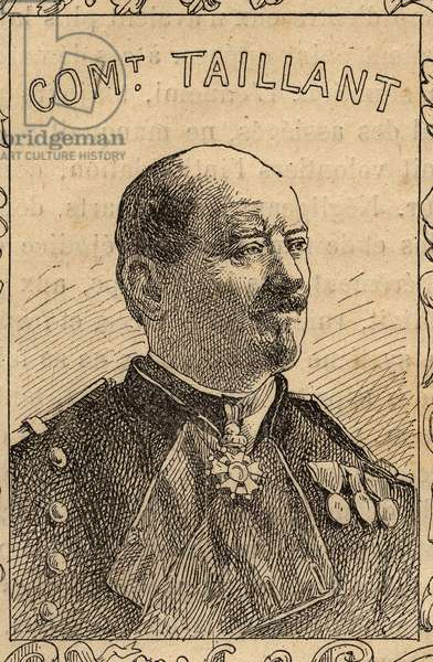 "portrait of French commanding officer Pierre Taillant (1816-1883) - engraving in ""The fighters of 1870-71"" by the commander Leonce Rousset (1850-1938) - Franco-German war"""" (1870-1871) - Franco Prussian War - (Deutsch-Franzosischer Krieg)"