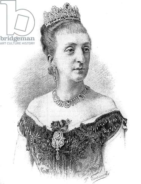"Portrait of the Countess of Paris, Marie-Isabelle (Marie-Isabelle) d'Orleans (1848-1919). Engraving in """" Le Monde Illustré"""", 22 May 1886."