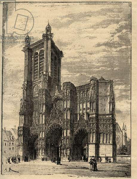 "Cathedrale Saint-Pierre-et-Saint-Paul de Troyes - Champagne-Ardennes - engraving in """" PATRIE"" - DESCRIPTION PECTUREQUIREQUE DE LA FRANCE EN 6 VOLUES BY LUCIEN HUARD - end 19th"
