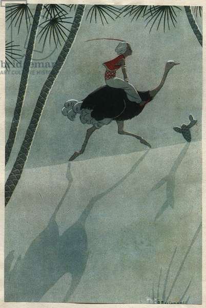"""Illustration by Angela Resignani for the new """""""" The philosophal stone"""""""" in """""""" meravigliosi racconti"""""""" (The fantastic news) by Hans Christian ANDERSEN (1805-1875), Danish novelist and poet, famous for his fee tales. 1945. Private collection. DR"""