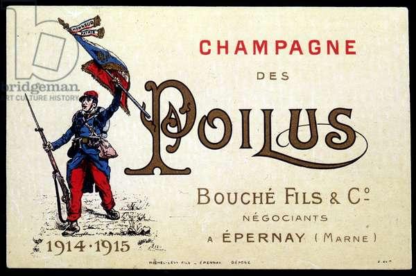 Champagne des Poilus - advertising blotter, circa 1915