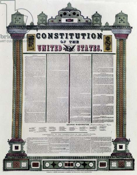 The Constitution of the United States of America (American Constitution) signed in 1787, applied in 1789