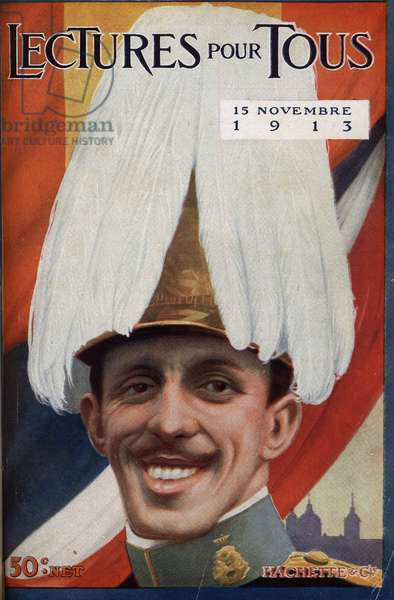 """Portrait of Alfonso XIII (1886-1941), King of Spain. One of the newspaper """"Lectures pour tous"""""""" of November 1, 1913."""