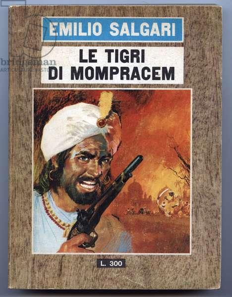 "The tiger of Mompracem - Roman by Emilio Salgari - Emilio SALGARI (1863-1911) - edition of the Book """" The Tigri di Mompracem"""" - The Tigers of Mompracem - 1966 - illustration by Carlo Iacono"