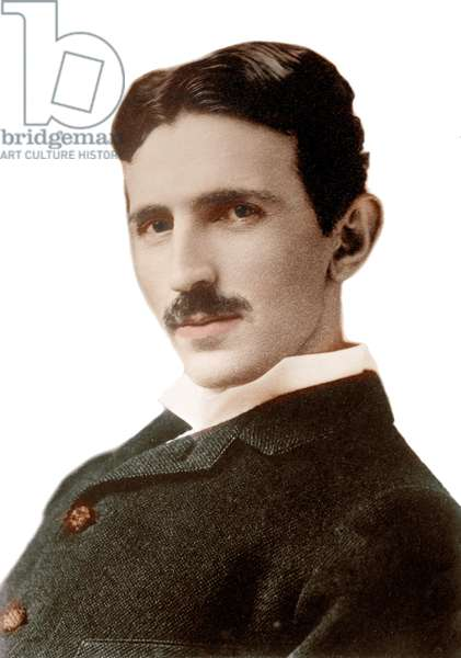 Portrait of Nikola Tesla (1856-1943) (Nikolaj) - Croatian-born Serb engineer, physicist and inventor - Photography by Napoleon Sarony (1821-1896) 1890