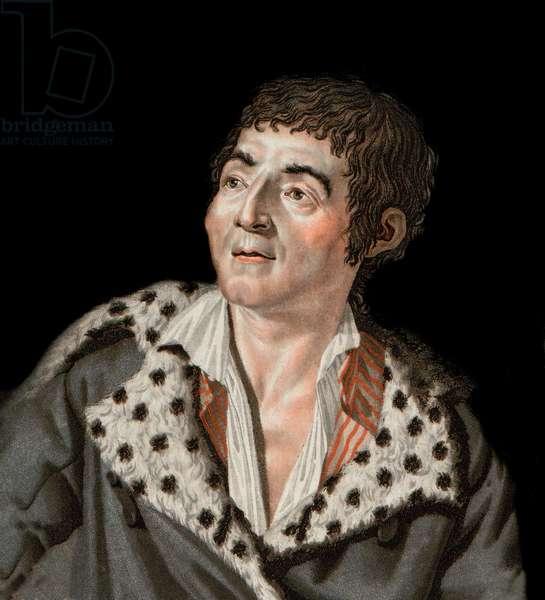 Portrait of Marat (1743-1793) - portrait of Jean-Paul (Jean Paul) Marat (1743-1793) politician, French journalist - engraving by Angelique Allais