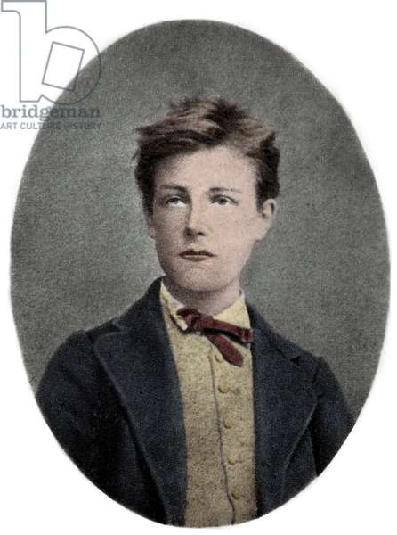 Arthur Rimbaud, French poet and adventurer - Portrait of Arthur Rimbaud (1859 - 1891) is 17 years old. Photograph by Carjat.