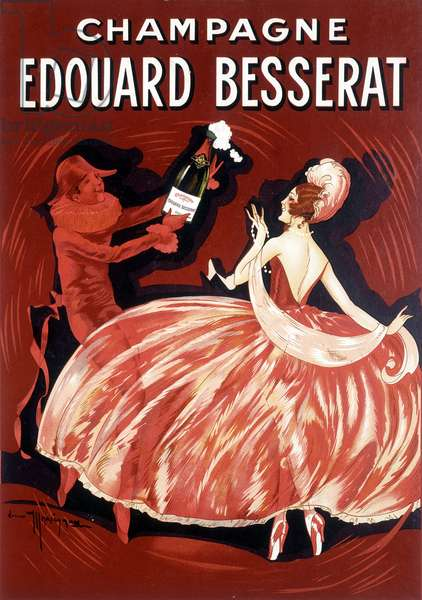 Advertising poster for Champagne Edouard Besserat, late 19th century